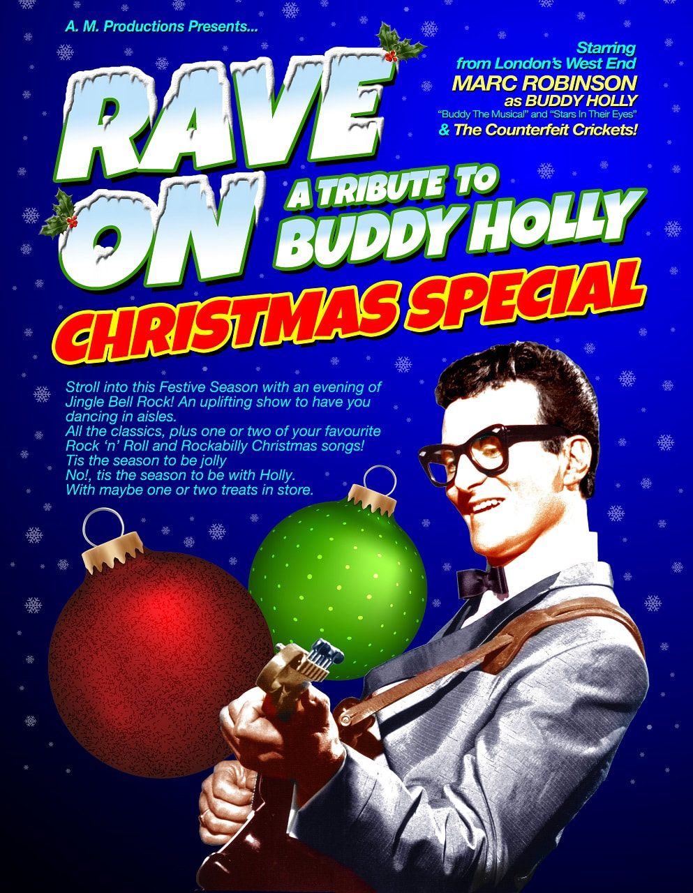Poster for 'Rave On - A Tribute To Buddy Holly Christmas Special'