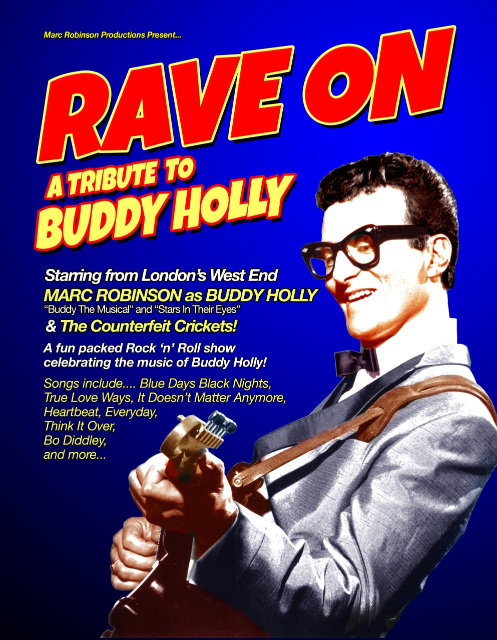 Poster for 'Rave On - A Tribute to Buddy Holly'