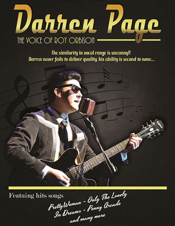 Poster for 'Darren Page - The Voice of Roy Orbison'