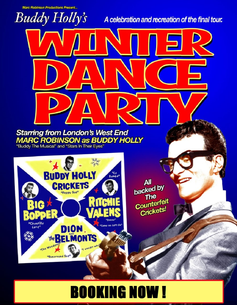 Poster for 'Buddy Holly's Winter Dance Party'
